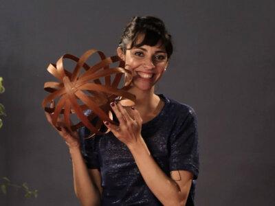 Meu casamento DIY: como fazer um móbile geométrico decorativo MARAVILHOSO!
