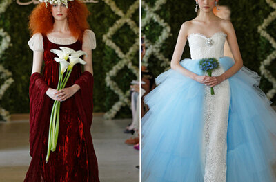 3 diseñadores famosos proponen vestidos de novia a colores en 2013