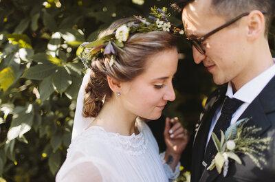 Un dulce casamiento íntimo con estilo vintage