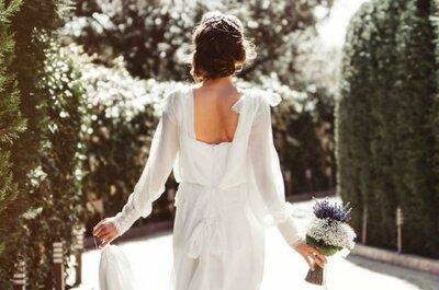 Estos son los vestidos de novia que puedes llevar si tienes los brazos y espalda bonitos