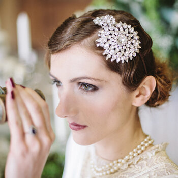 Heavenly hair for vintage brides
