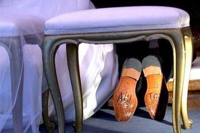 Tendenze accessori 2014, scarpe da sposa e da sposo: dillo con la suola!