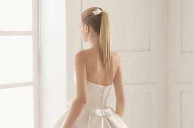 10 hermosos peinados con cola para novias. ¡Inspírate en estos looks!