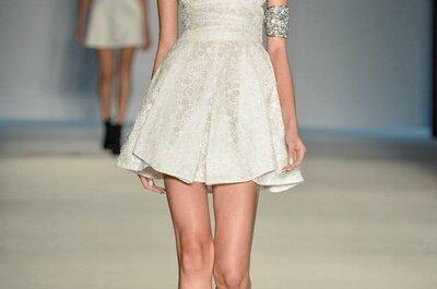 Inspiração para seu vestido de noiva curto e moderno
