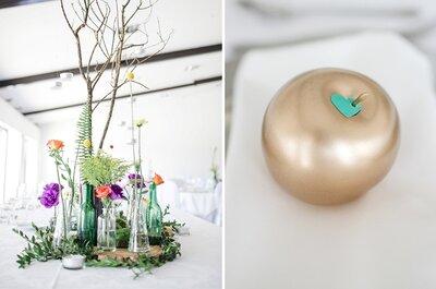 Centros de mesa de sonho para o seu casamento