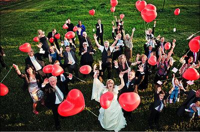 La foto de boda de la semana: Suelta de globos