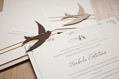 Papelaria de casamento: itens essenciais para a personalização TOTAL da sua festa!