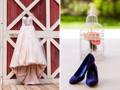 Beautiful Barn Wedding: Holli + DJ say I Do in Michigan