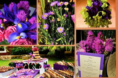 Tendencia en bloques de color para los centros de mesa en bodas 2013
