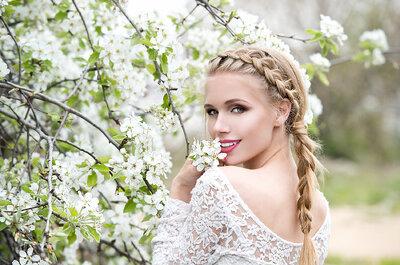 Treccia raccolta e treccia liscia per la tua acconciatura da sposa: quale sceglierai?