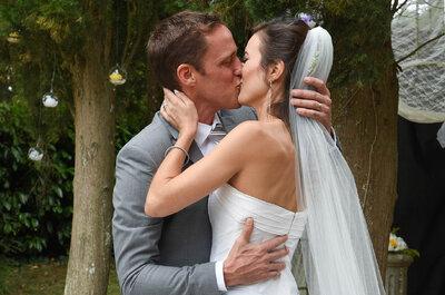 La cérémonie laïque de Julie et Steve : un lâcher de lanternes et un château de conte de fées !