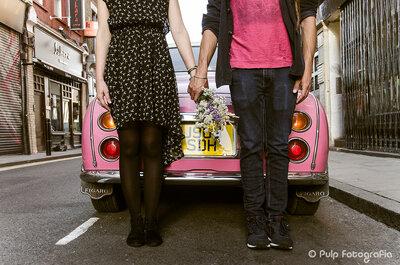 Ensaio cool em Londres: amor, grafite e muito estilo