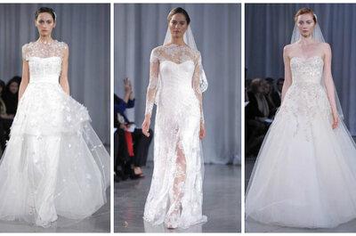 Monique Lhuillier Wedding Dresses Fall 2013: Feminine & Romantic Designs