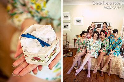 Die Trendfarbe Blau für die Brautjungfern