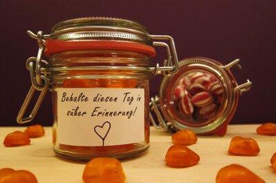 Individuelle Bonbons als Gastgeschenk auf Ihrer Hochzeit