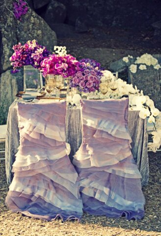 Fun frills for a fashionable wedding style