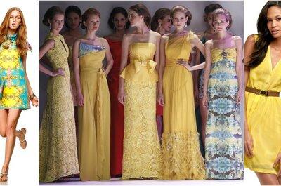 Tendencias: vestidos amarillos para invitadas a una boda