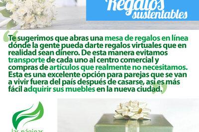 Regalos ecológicos para una boda sustentable
