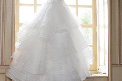 Suknie ślubne z trenami z najnowszych kolekcji
