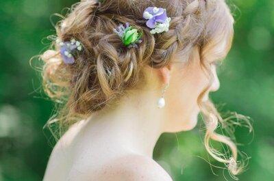 Moderne Hochsteckfrisuren für Braut und weibliche Hochzeitsgäste