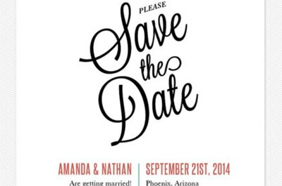 The 10 cutest Save the dates for your 2014 wedding