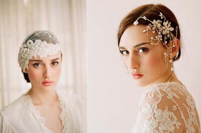 Seleção top de tiaras de cabelo para noivas