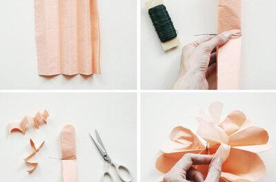 Decora el jardín para tu boda con guirnaldas de papel