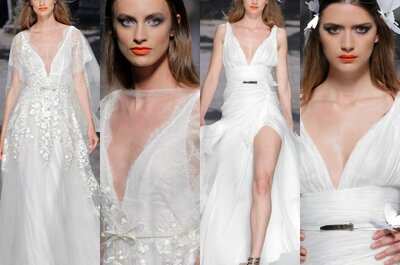 Decote V chega com força nos vestidos de noiva para 2015