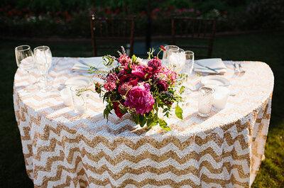 El chevron llega para vestir de gala las mesas de tu boda