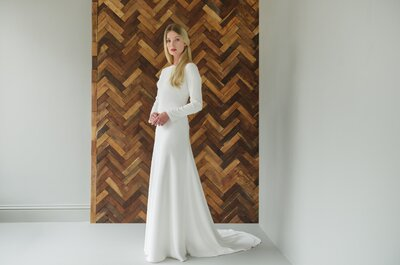 Gorgeous long sleeve wedding dresses for those cold winter months!