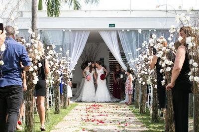 Casamento de Aline e Jeane: conto de duas fadas em Campinas.