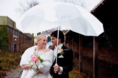 ¿Qué hago si llueve en mi boda? Ideas felices para no angustiarse