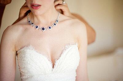 Los collares perfectos para un look de novia espectacular: Joyas que te harán brillar