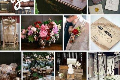 Tu boda con acabados de caoba: La madera y los tonos rojizos como aliados en el estilo de tu día