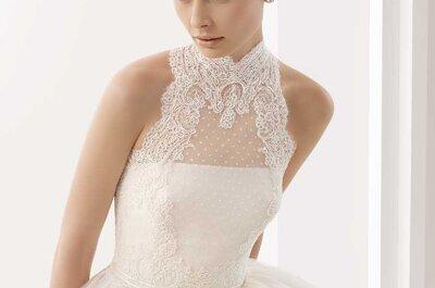 Abiti da sposa con collo alto per proporzionare il fisico ed essere perfette per il sì!