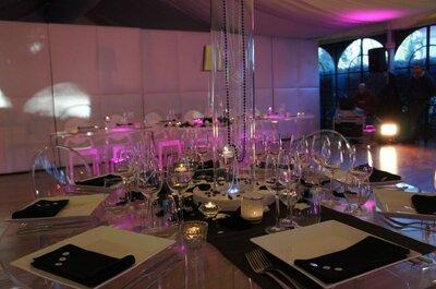 Tables et buffets de mariage : misez sur une décoration transparente
