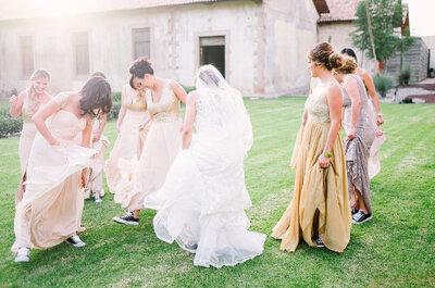 Cómo elegir los vestidos para tus damas de boda: 5 puntos esenciales