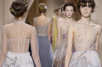 Visto en París: Peinados de novia con flores naturales