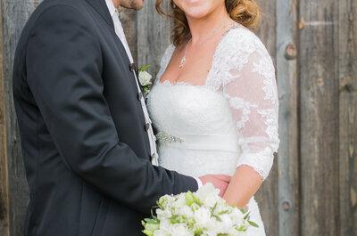 Julia & Patrick: eine klassische Landhochzeit und ein Glas Martini als Hochzeitsdetail