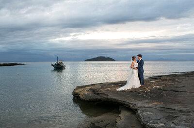 Casamento de Anna Carolina & Guilherme Paixão: à beira mar, rústico, romântico e MUITO animado!