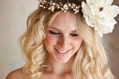 Coronas de flores para novias 2013