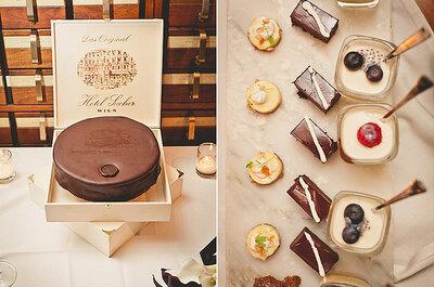 Dulces y bocadillos para boda