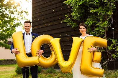 Flamingi w ogrodzie, dmuchane balony LOVE i ich miłość ! Cudowny ślub z idealną fotorelacją! Zapraszamy!