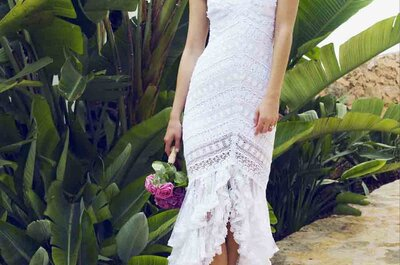 Tendencia de vestidos de novia: Cortos por delante y largos por detrás