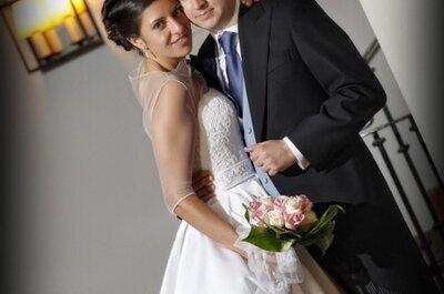 María y Manuel: una romántica boda en el Parador de Mérida