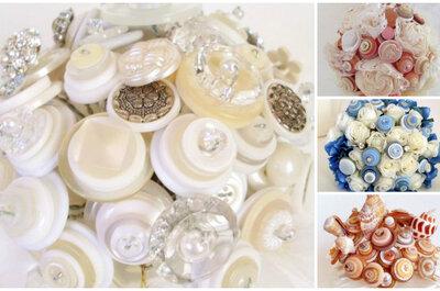 Angela's Artistic Designs: Alternative Button Bridal Bouquets