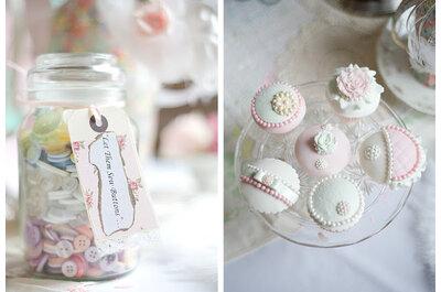 Decoración de boda romántica en tonos pastel