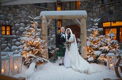 Plenerowy, zimowy ślub irlandzkiej pary Rachael i Ian w Zakopanem z czwórką dzieci. Cudowny!