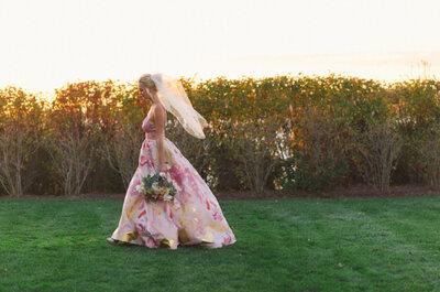 Vestidos de novia con efecto acuarela: Color para un estilismo perfecto