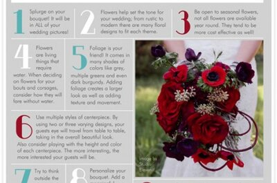 Top 10 tips for... choosing your wedding flowers!